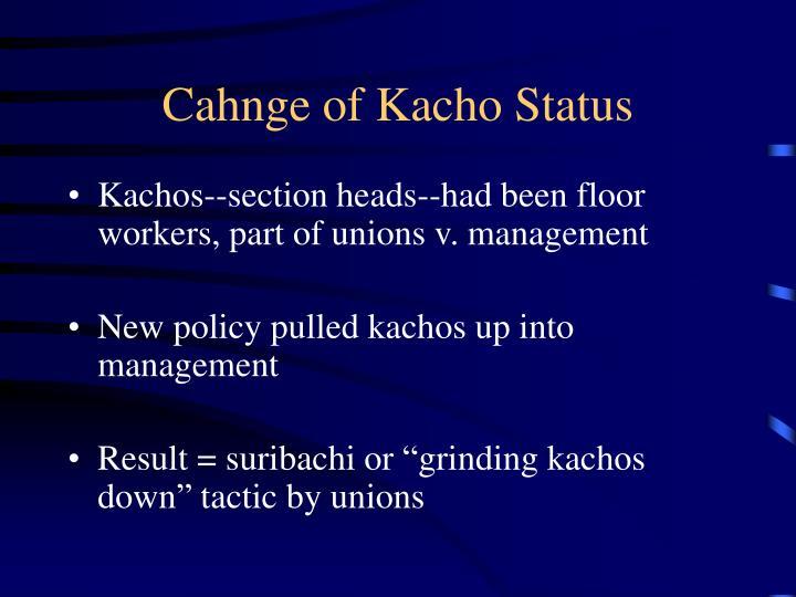 Cahnge of Kacho Status