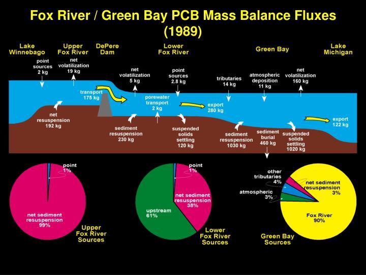 Fox River / Green Bay PCB Mass Balance Fluxes