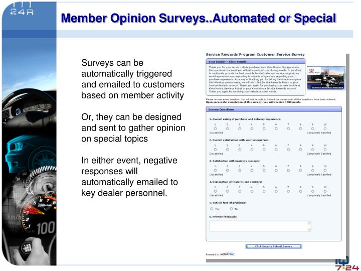 Member Opinion Surveys..Automated or Special