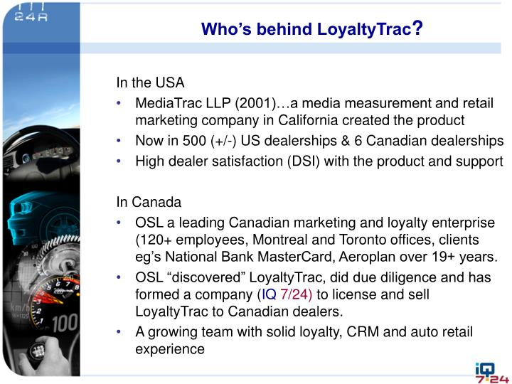Who's behind LoyaltyTrac
