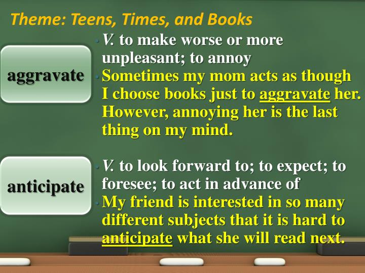 Theme teens times and books