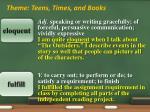 theme teens times and books2