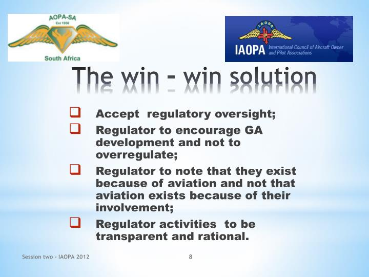 Accept  regulatory oversight;