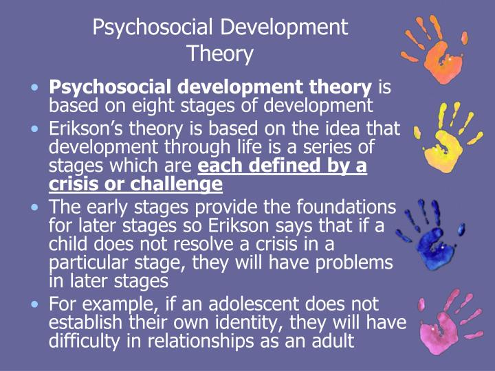 psychosocial development stage in early childhood Erikson identified eight stages of psychosocial development, with each stage presenting a conflict that must be overcome this lesson will discuss the conflict and growth associated with each stage of development.
