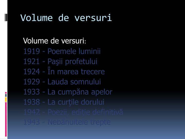 Volume de
