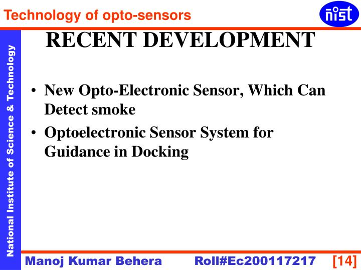 New Opto-Electronic Sensor, Which Can Detect smoke