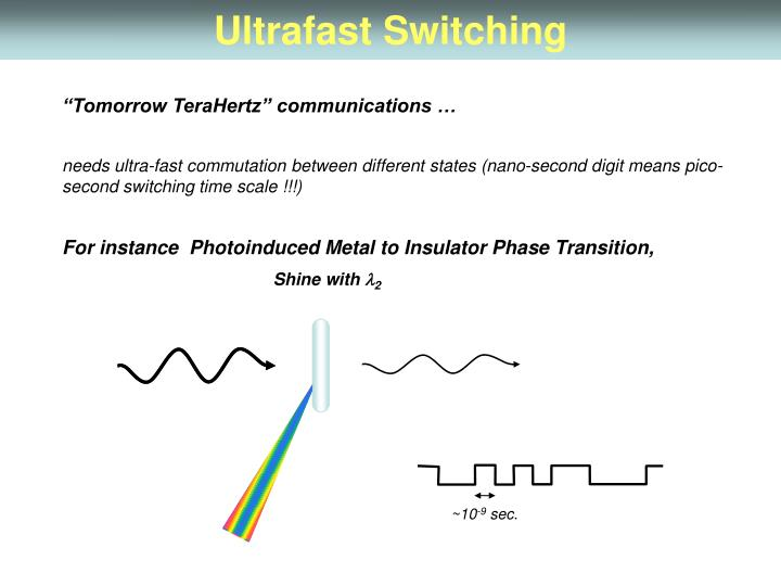 Ultrafast Switching