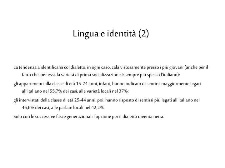 Lingua e identità (2)