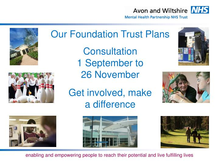 Our Foundation Trust Plans