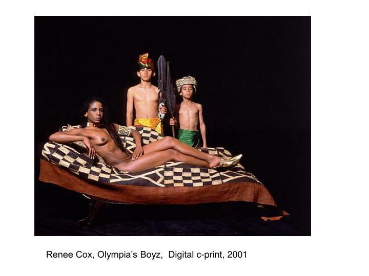 Renee Cox, Olympia's Boyz,  Digital c-print, 2001