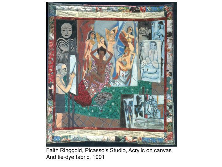 Faith Ringgold, Picasso's Studio, Acrylic on canvas