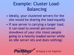 example cluster load balancing