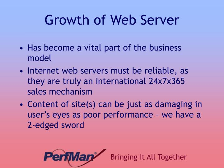 Growth of Web Server