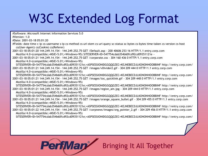 W3C Extended Log Format