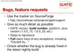 bugs feature requests