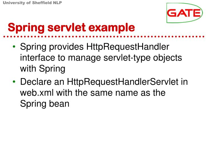 Spring servlet example