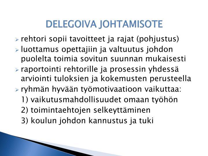 DELEGOIVA JOHTAMISOTE