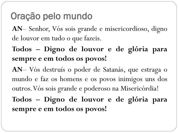 Oração pelo mundo