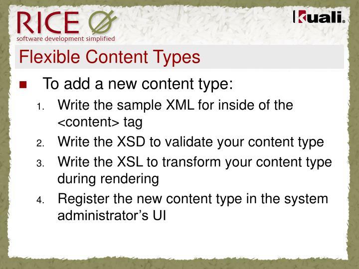 Flexible Content Types