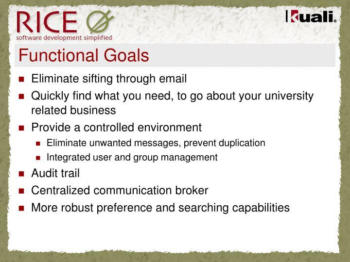 Functional Goals