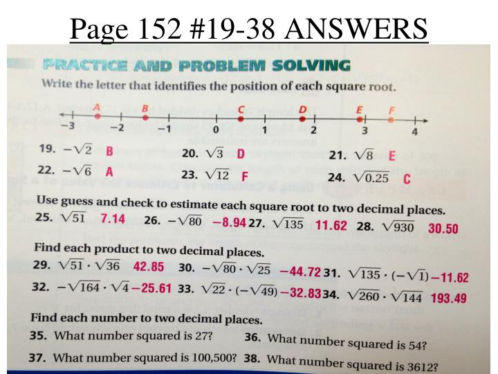 Page 152 19 38 answers