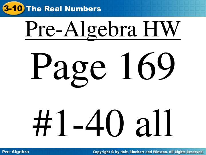 Pre-Algebra HW