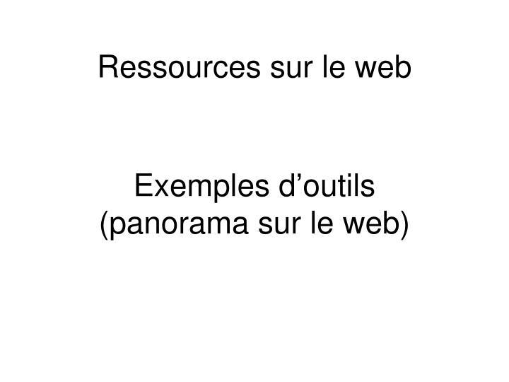 Ressources sur le web