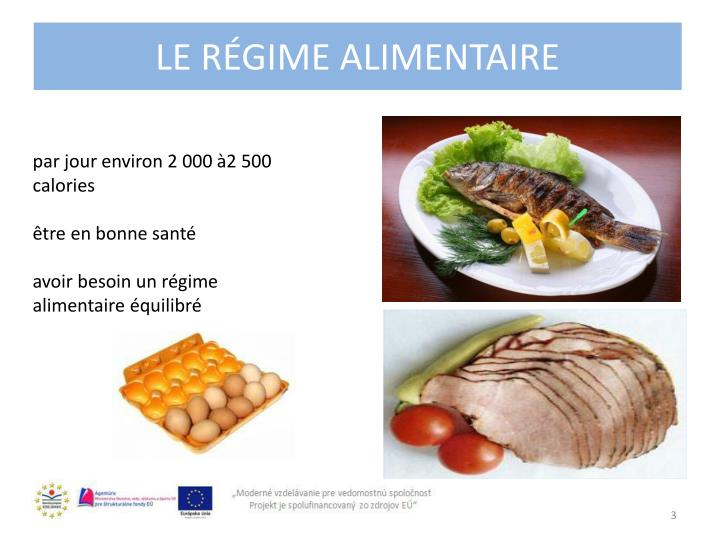 Le r gime alimentaire