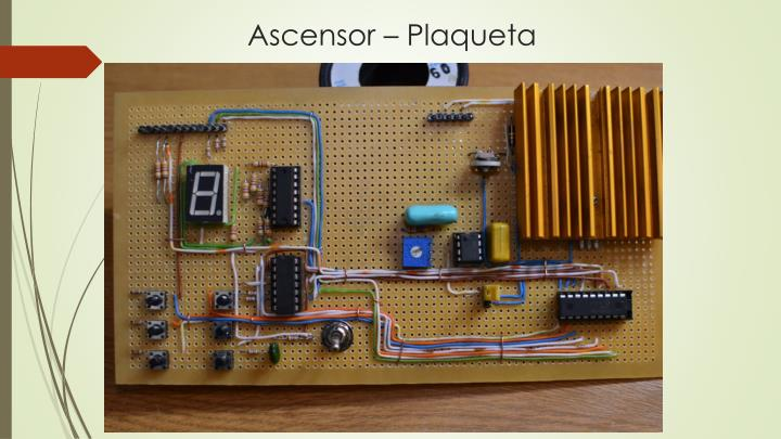 Ascensor – Plaqueta