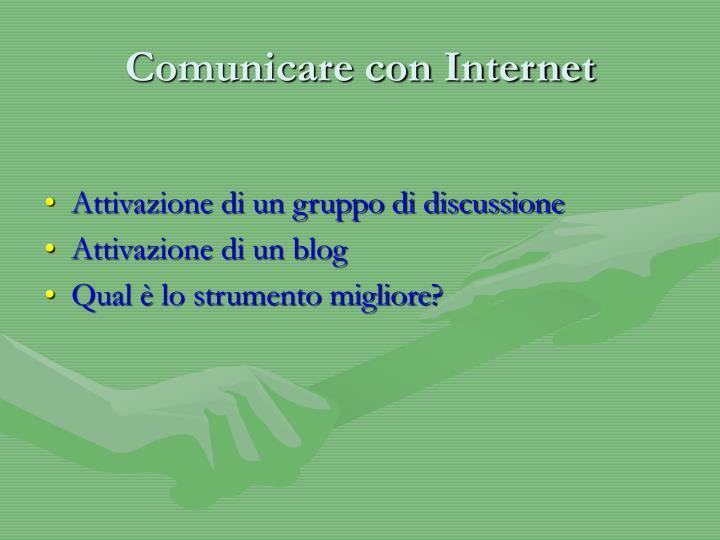Comunicare con Internet