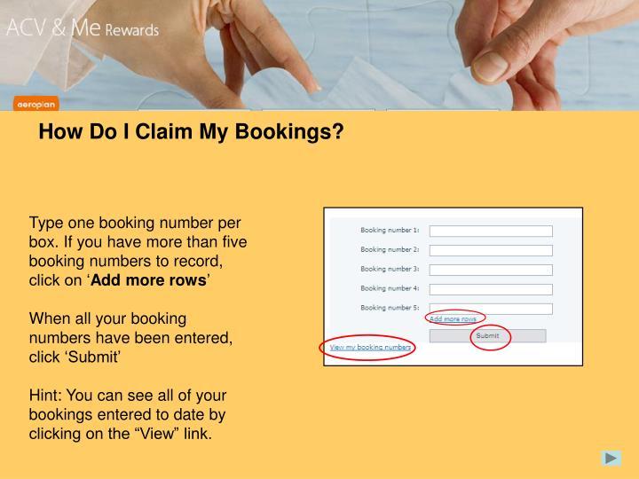 How Do I Claim My Bookings?