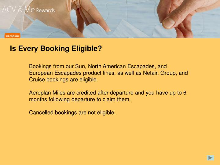 Is Every Booking Eligible?