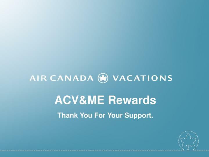 ACV&ME Rewards