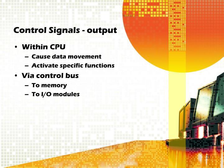 Control Signals - output
