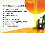 fetch sequence symbolic
