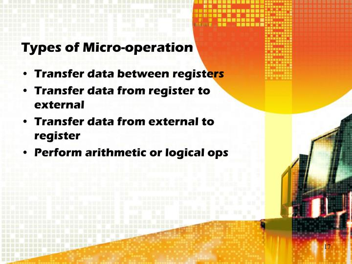 Types of Micro-operation