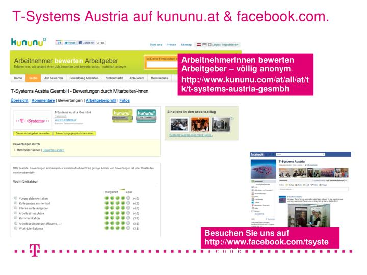 T-Systems Austria auf kununu.at & facebook.com.