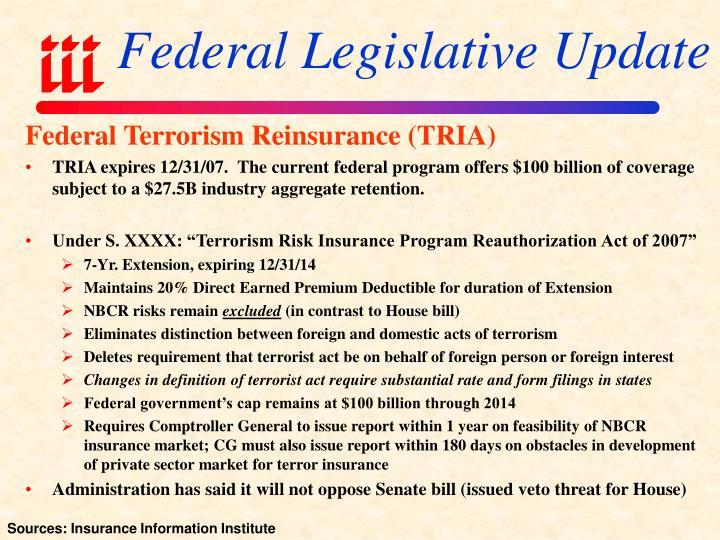 Federal Legislative Update