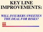 key line improvements will insurers sweeten the deal for risks