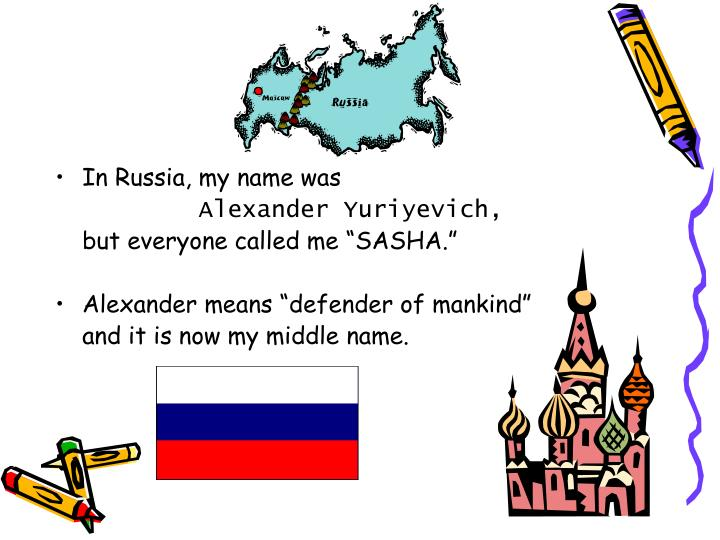 In Russia, my name was