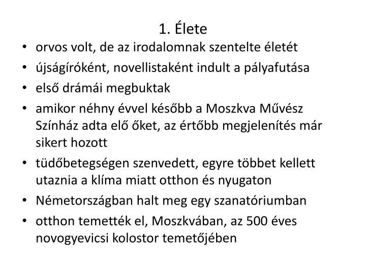 1. Élete