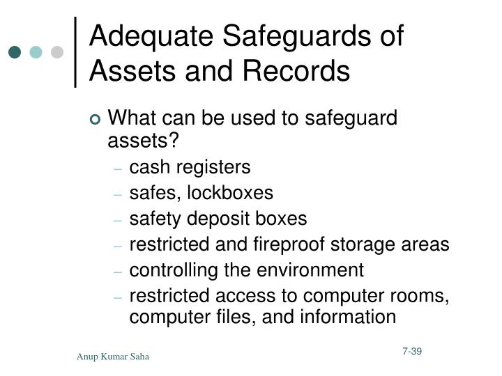 Adequate Safeguards of