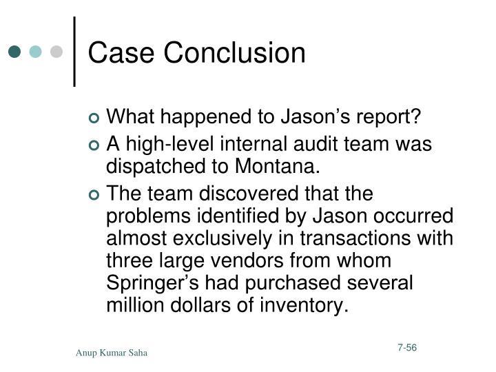 Case Conclusion