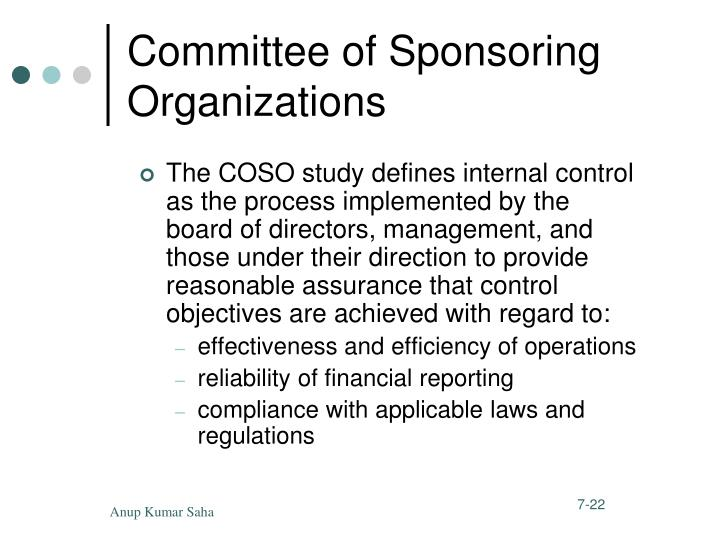 Committee of Sponsoring Organizations