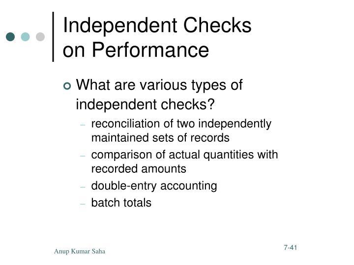 Independent Checks