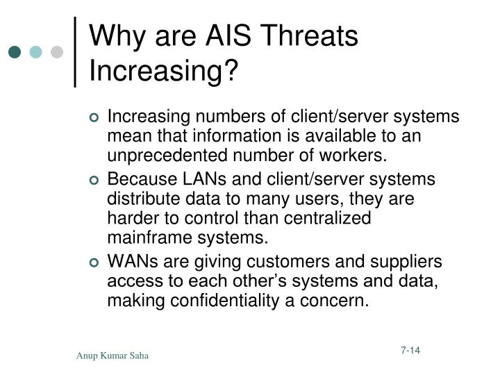 Why are AIS Threats Increasing?