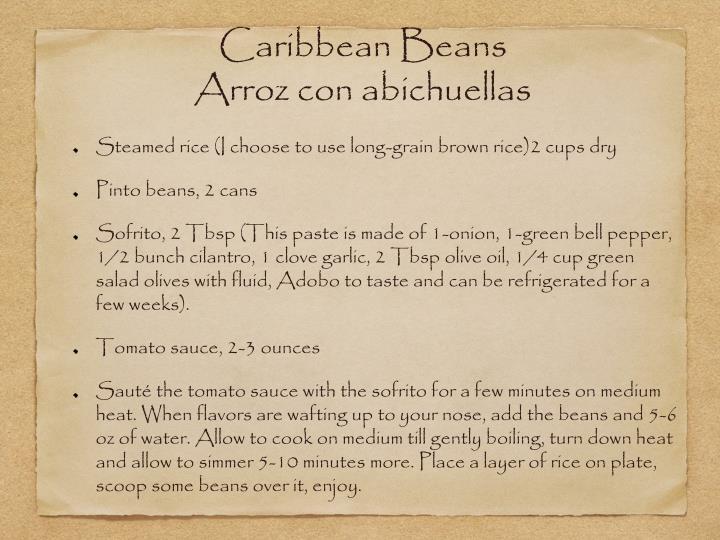 Caribbean Beans
