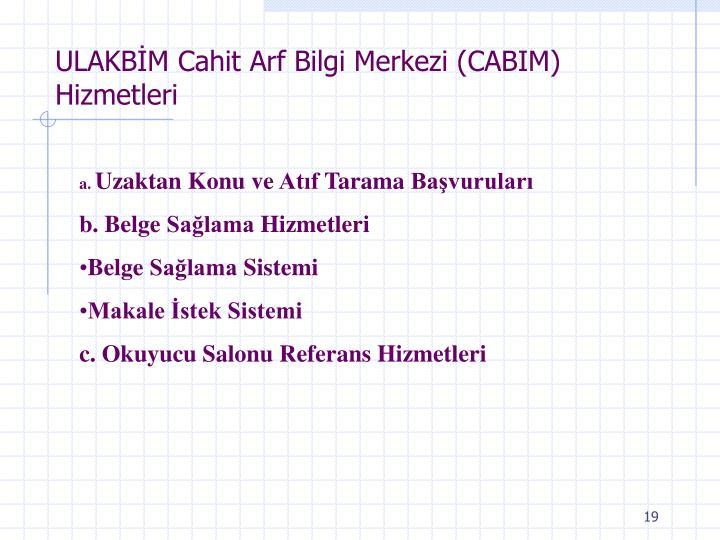 ULAKBİM Cahit Arf Bilgi Merkezi (CAB