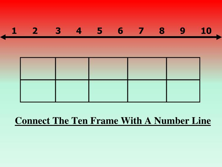 Connect The Ten Frame With A Number Line