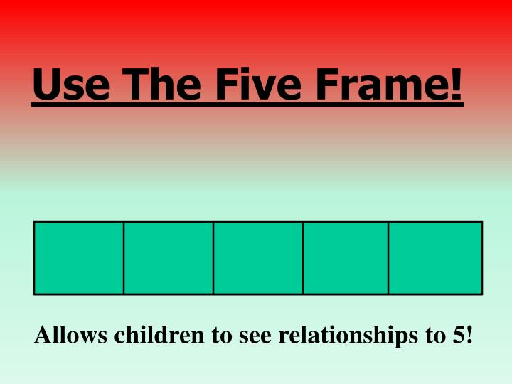 Use The Five Frame!